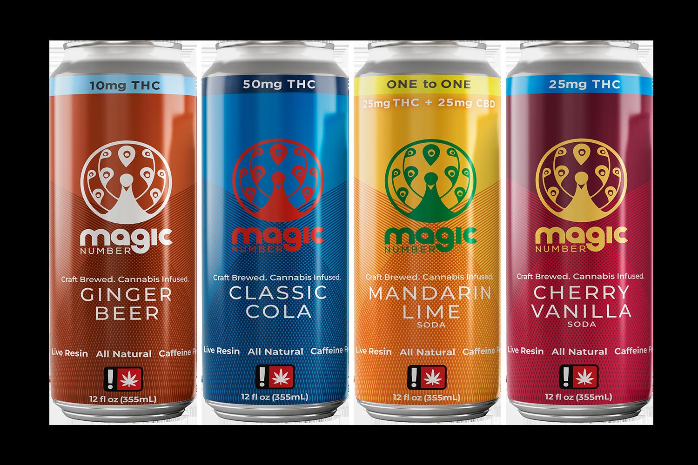Magic Number Sodas lineup