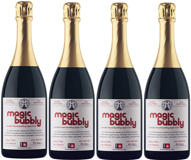 Bubbly cannabis infused sparkling cider